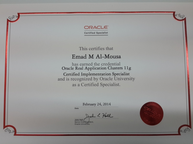 Oracle Real Application Clusters 11g Certified Implementation Specialist