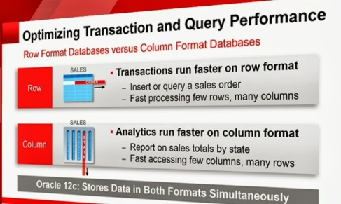 oracle 12c in-memory optimization (transaction and query)