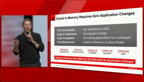 oracle 12c in-memory zero changes required