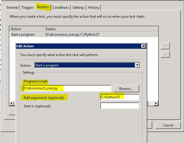 Scheduling Python arcpy script in windows task scheduler
