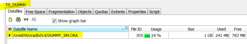 default data file