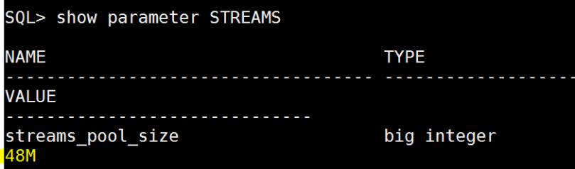 show parameter streams